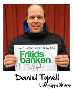 Daniel Tynell stöttar Fritidsbanken