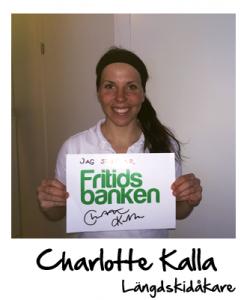 Charlotte Kalla stöttar Fritidsbanken