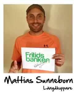 Mattias Sunneborn stöttar Fritidsbanken